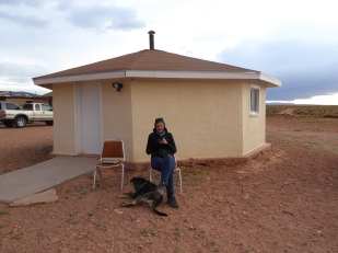 We stayed in a Hogan at a horse ranch in Arizona